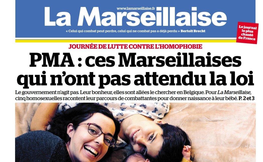 La une de La Marseillaise du 17 mai 2019