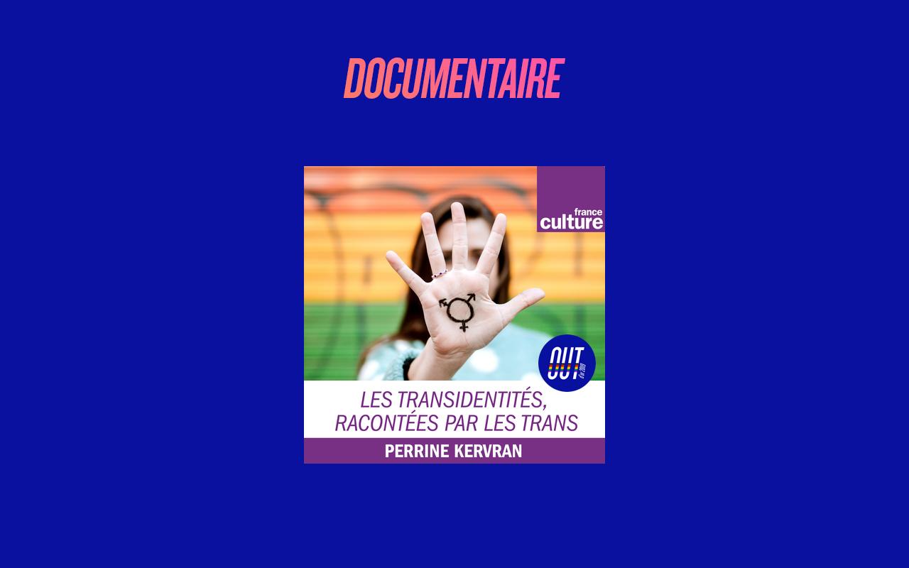 """""""Les transidentités, racontées par les trans"""", de Perrine Kervran et Annabelle Brouard (France Culture)"""