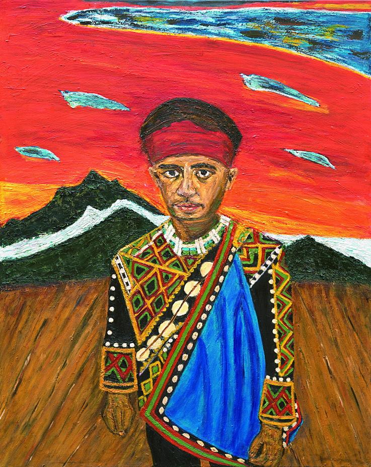 003 永遠的原住民 - 許進德  72.5X91cm 2012  畫布-油畫