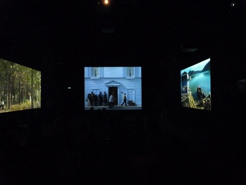 051 Bill Viola  going forth by day -sortir au jour 2002 installation audio video 5 parties 1-fire birth 2-the parh 3-the deluge 4-the voyage 5- first light 35 minutes chaque