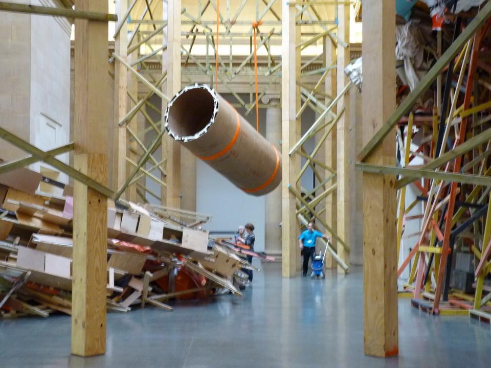 027 Phyllida Barlow born 1944 dock installation 2014