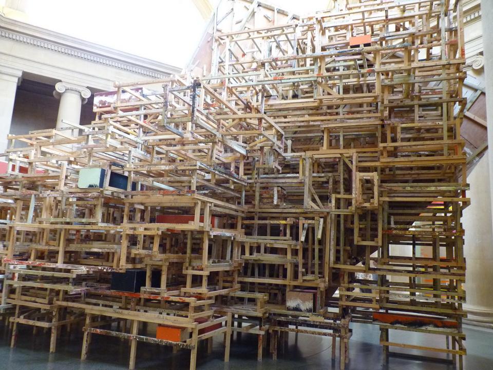 034 Phyllida Barlow born 1944 dock installation 2014