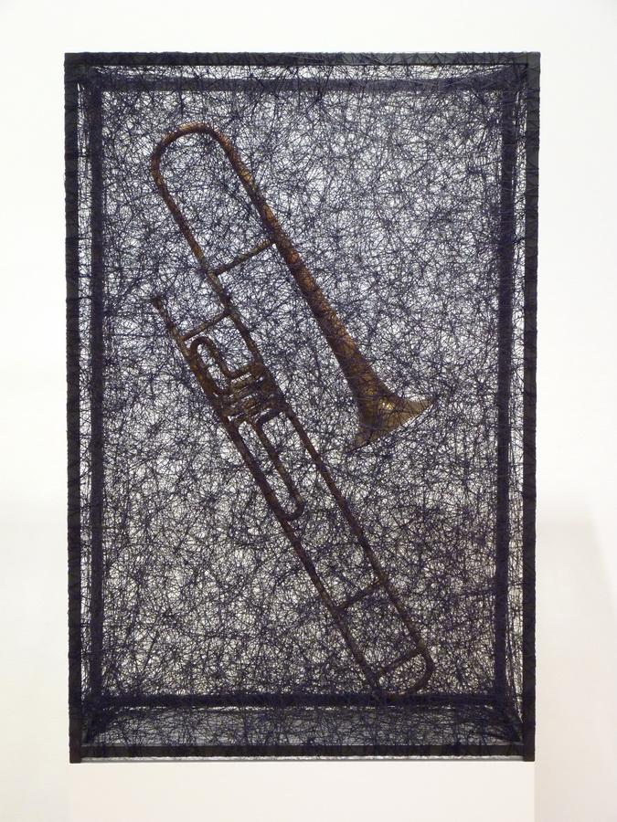 005 Chiharu Shiota ne1972 state of being -trombone 120x80x45cm 2012