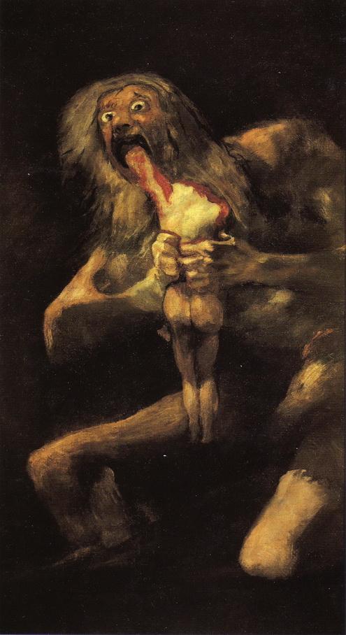 059 Goya 1821-1823 Saturne devorant ses enfants  146x83 Musee du Prado Madrid
