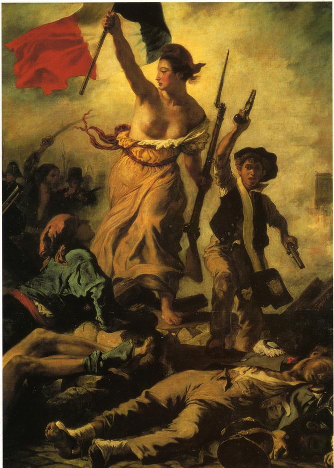 067 Delacroix 1830 La liberte guidant le peuple 325x260   Musee du Louvre