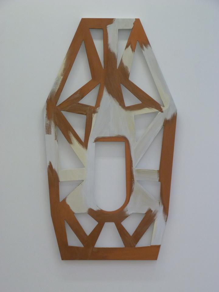 075 Blair Thurman kalicko kat  183x102x5cm 2014 acrylique sur toile sur bois