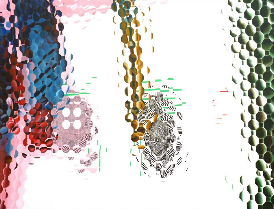 059   奇相-無相系列之7  114x146cm   -80F     壓克力-畫布2014