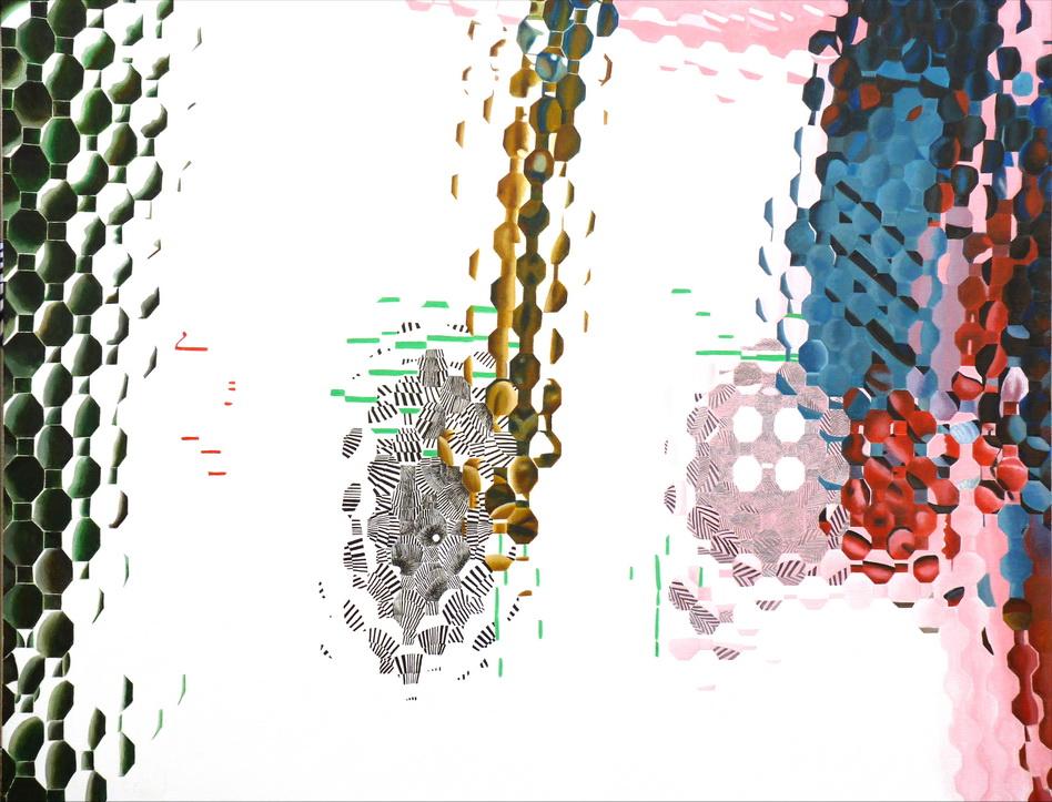 060   奇相-無相系列之8  114x146cm   -80F     壓克力-畫布2014