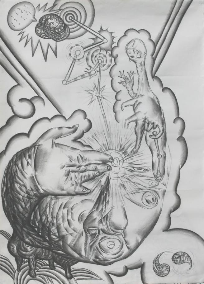 素描-鉛筆畫  妙工開天眼  2009