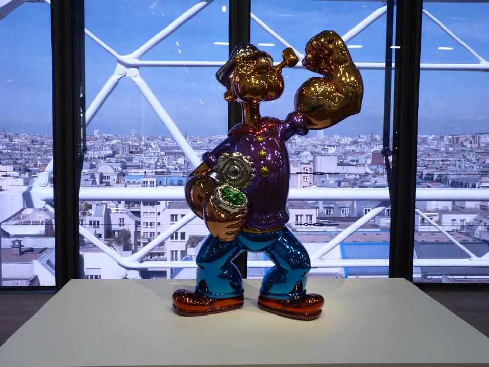 058 Jeff Koons  popeye 2009-2011 acier inoxydable au poli miroir et vernis trasparcet