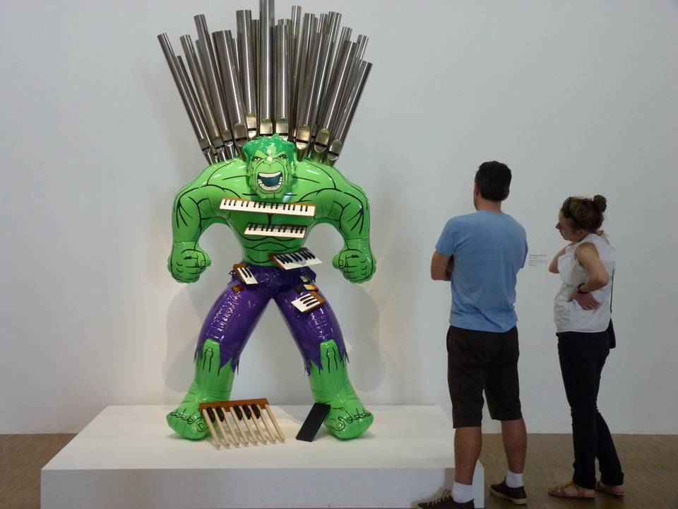 071 Jeff Koons   hulk-orgue 2004-2014 bronze polychrome et technique mixe