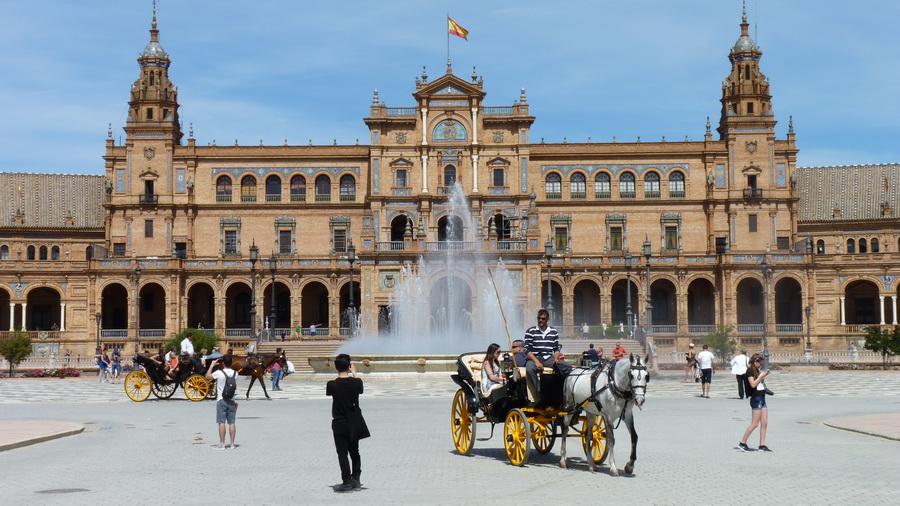 P1390855  Seville  plaza de Espana
