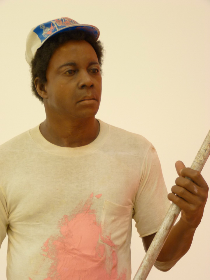 035 Duane Hanson   house painter 1984-88 autobody filler polychromed in oil .mixed media with accessories