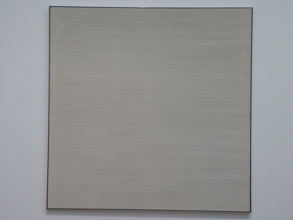 004 Agnes Martin adventure 1967  acrylic paint and graphite on canvas
