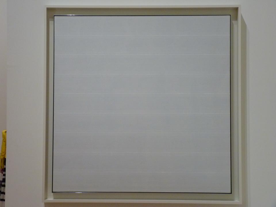 016 Agnes Martin 1912-2004 untitled-5 1988 acrylique  et graphite sur lin