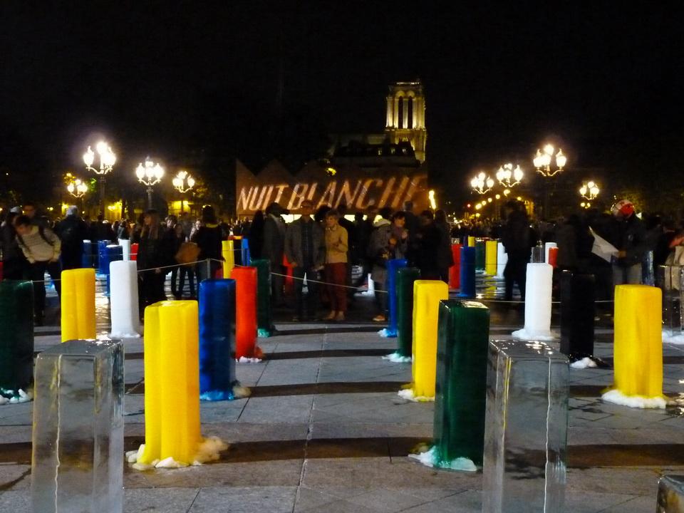 001  Zhenchen   Liu ICE monument 2015 installation  270 blocs de glace