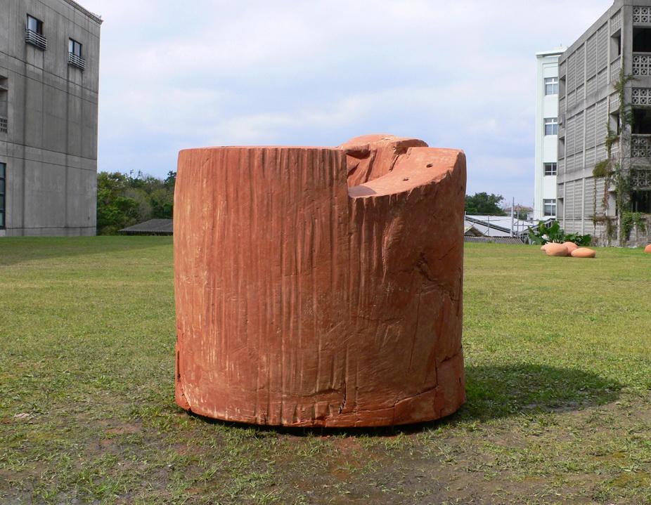 C013m  1 文化拓印-II  2012  赤燒 120x150x120cm