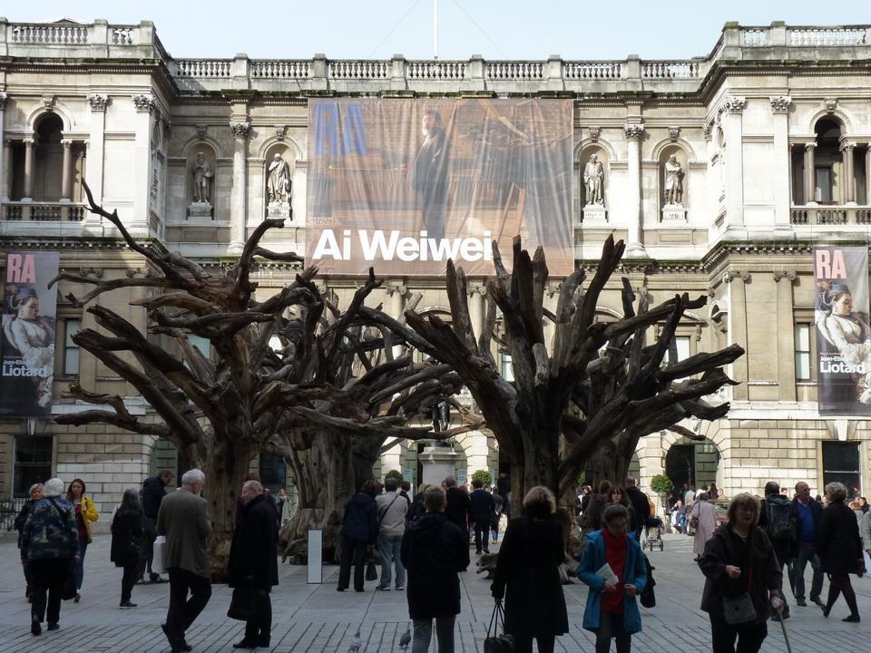001  Ai Weiwei tree 2009-10 2015 tree sections steel