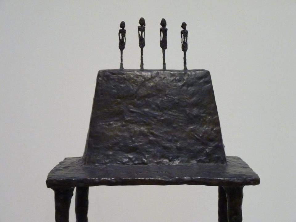 0032 Alberto Giacometti 1901-1966  Four Figurines on a base 1950-1960