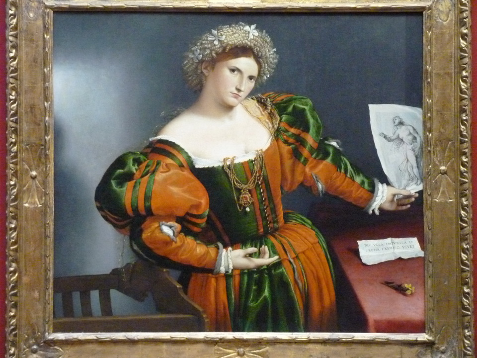013 Lorenzo Lotto 1480-1556 portrait of a woman inspired by Lucretia about 1530-32