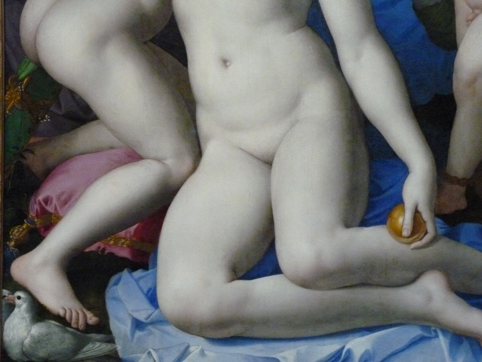 022 Bronzino 1503-1572 an allegory with venus and cupid about 1545