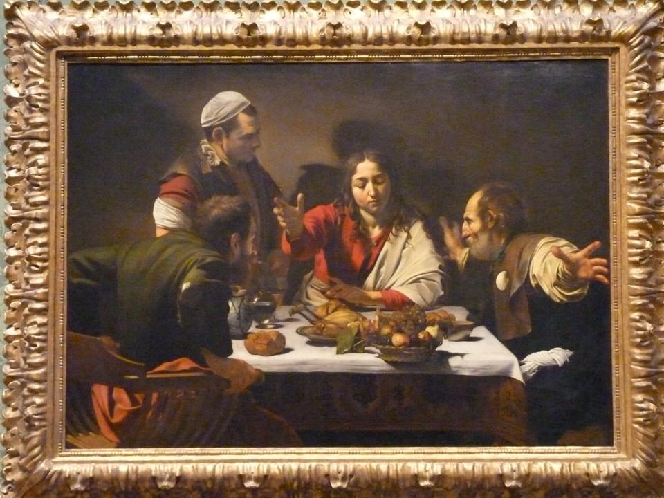 025  Merisi da Caravagglo 1571-1610 the supper at Emmaus 1601
