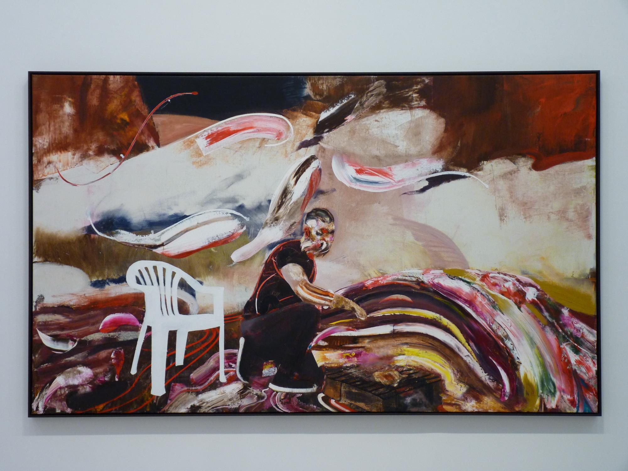 019-3  Adrian Ghenie  ne1977  self-portrait  230x160cm 2015 huile sur toile