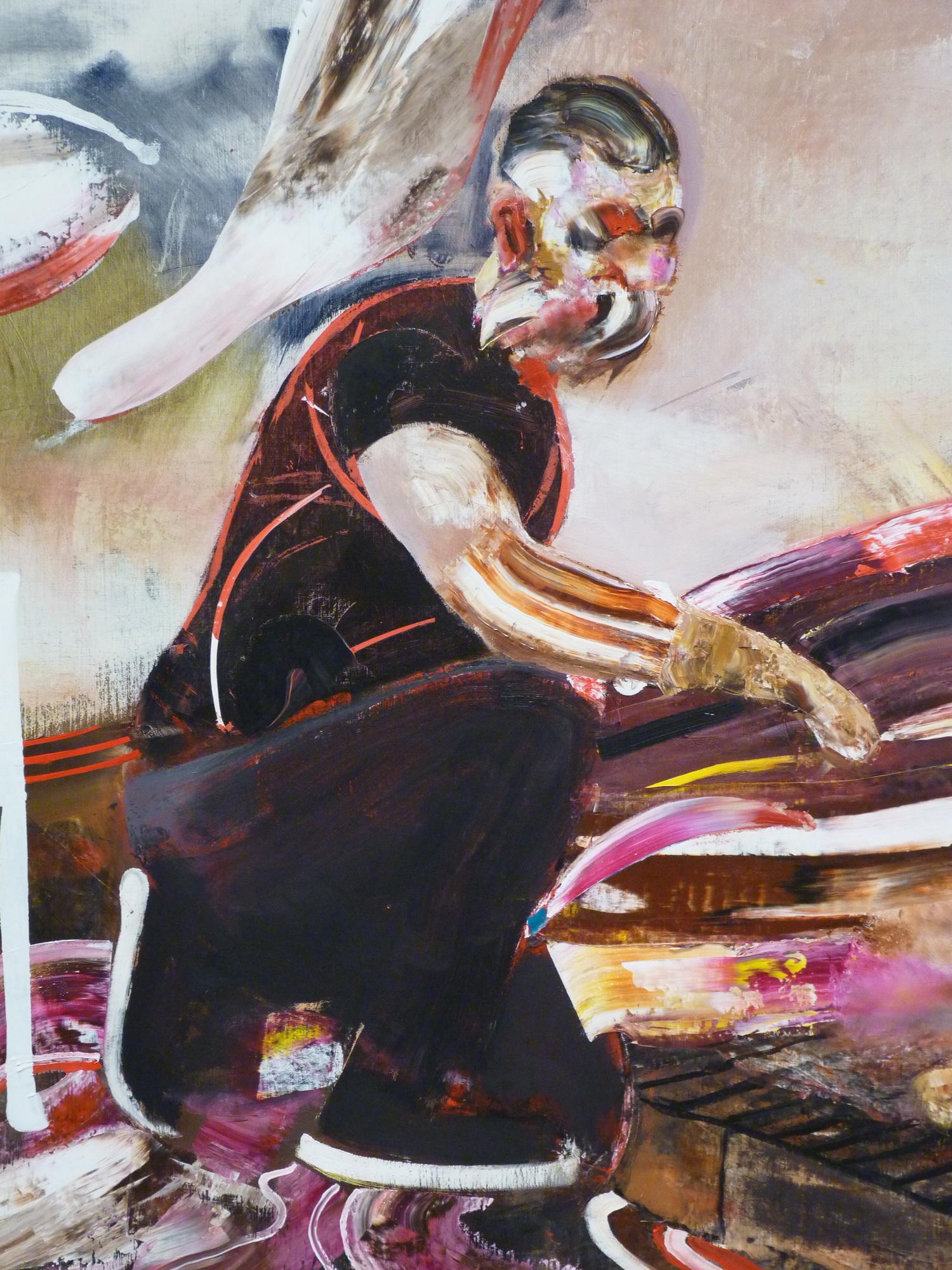 019-4  Adrian Ghenie  ne1977   self-portrait  230x160cm 2015 huile sur toile