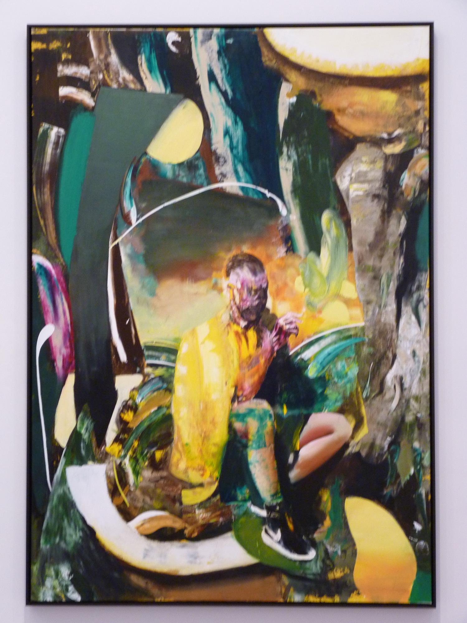 019-7 Adrian Ghenie  ne1977  self-portrait  230x160cm 2015 huile sur toile