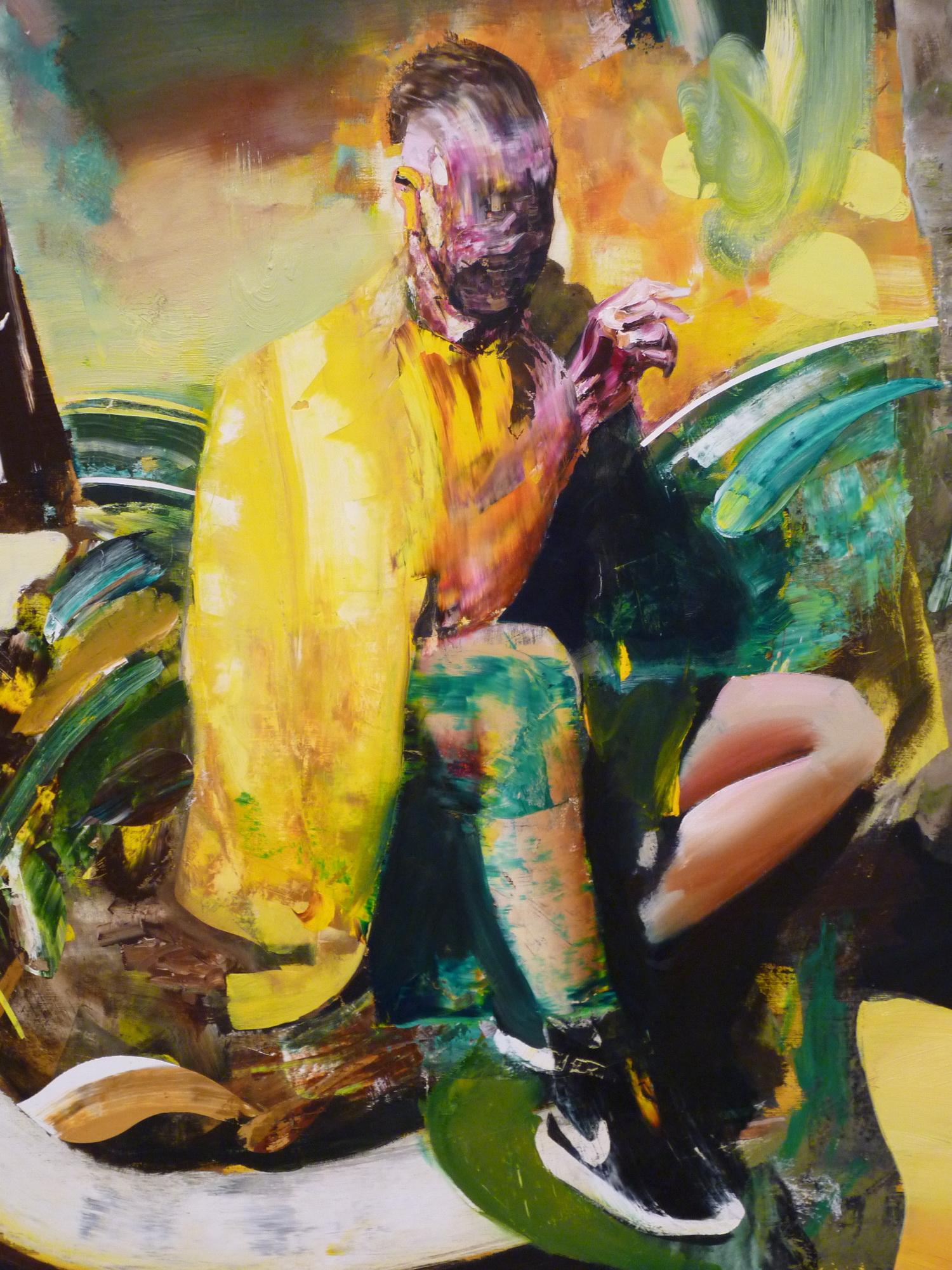019-8 Adrian Ghenie  ne1977  self-portrait  230x160cm 2015 huile sur toile