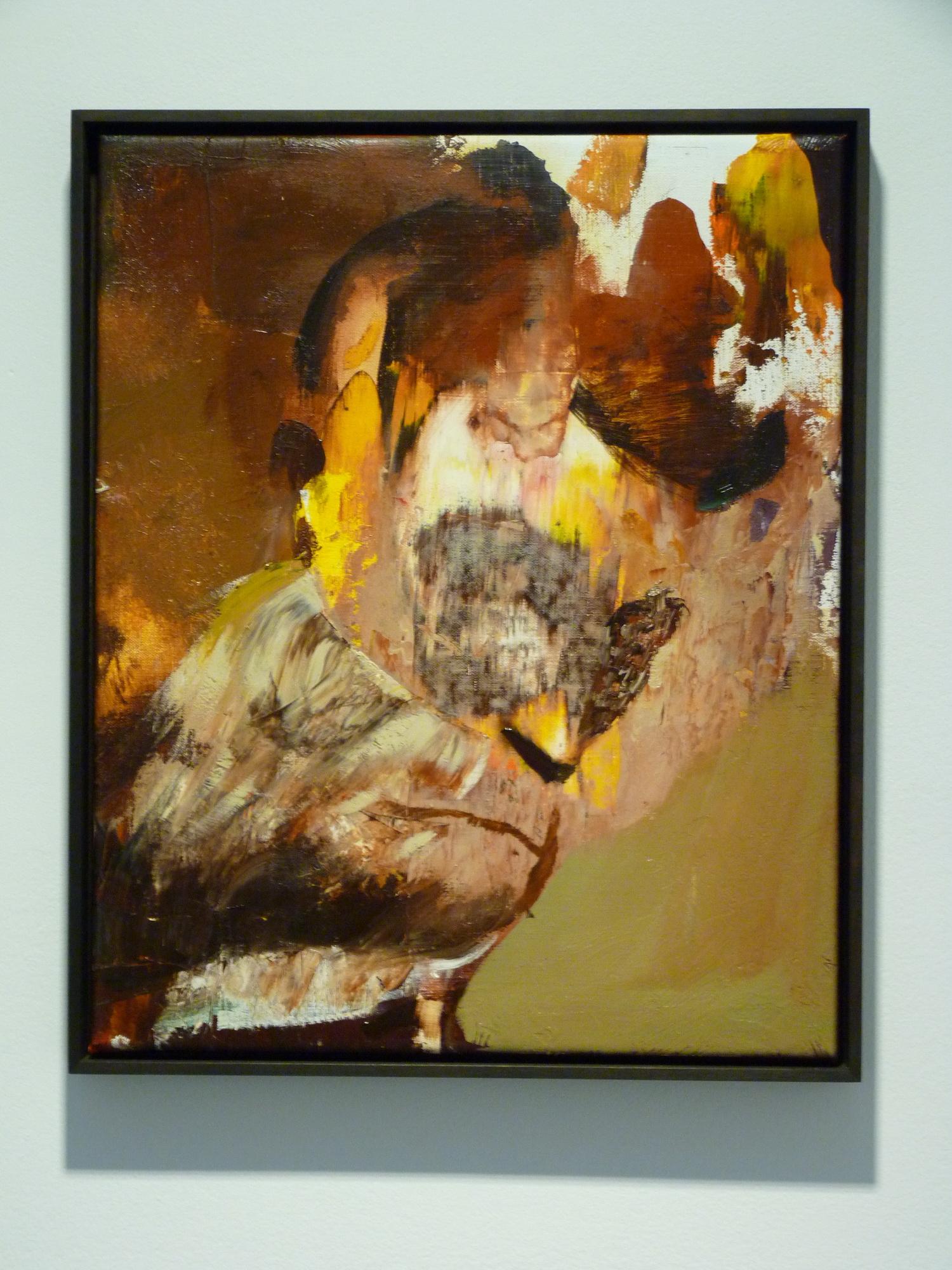 020-2 Adrian Ghenie ne1977  43x30cm 2015   huileur toile