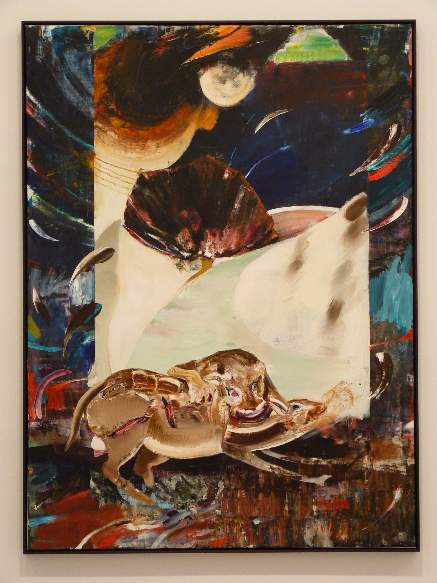 019 Adrian Ghenie ne1977  the hungry lion 230x170cm  the hungry lion 230x170cm 2015