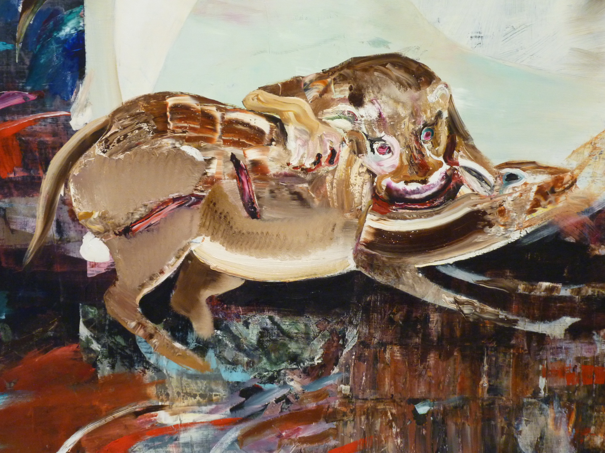 019-2  Adrian Ghenie  ne1977  the hungry lion 230x170cm 2015