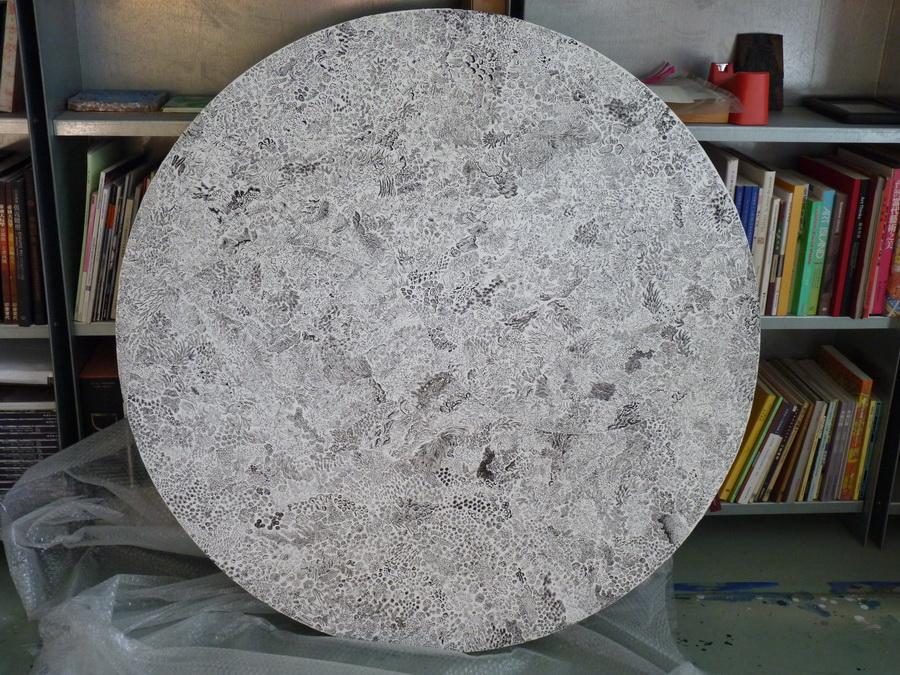 P1370865  太極,120乄120公分,壓克力顏料,畫布,2014年