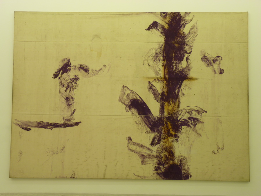 046  Julian  Schnabel  untitled 340.4x480.1cm  1990 oil on trpaulin
