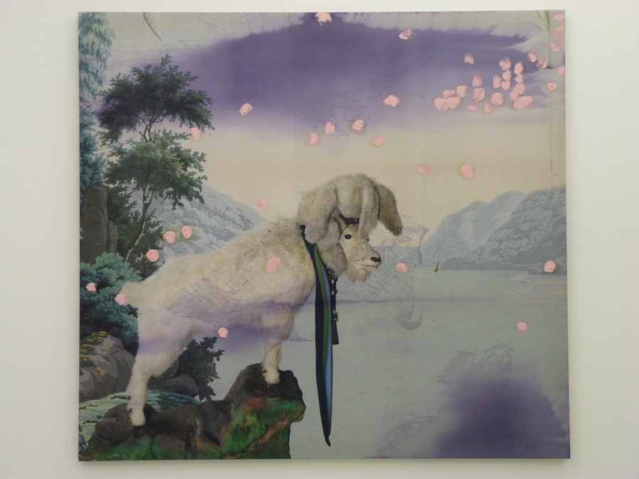 049  Julian  Schnabel  untitled 223.5x243.8cm  2012 inkjet print  oil ink on polyester