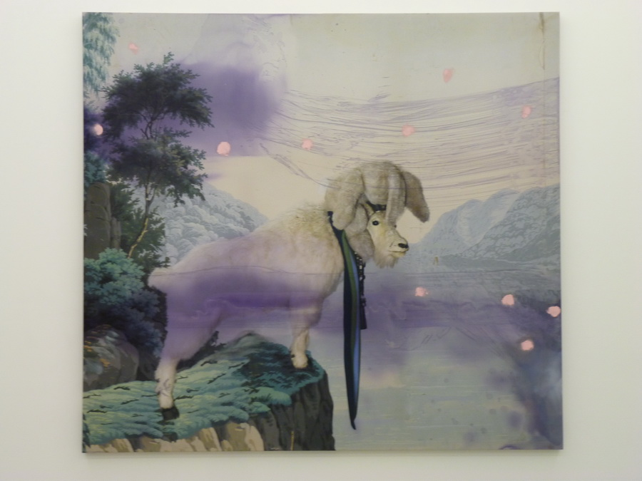 050 Julian  Schnabel  untitled 223.5x243.8cm  2012 inkjet print  oil ink on polyester