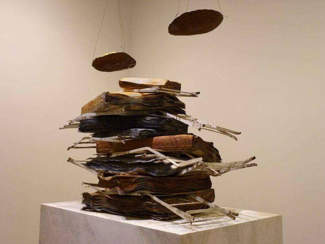 008-2  Anselm Kiefer  nigredo 1998 plomb metal de bris de peintures sel platre bois et resine