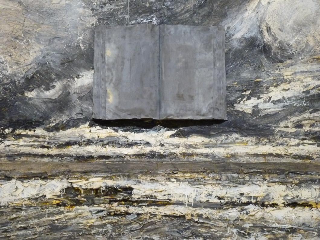 027  Anselm Kiefer le livre  2007 huile  emuision  acrylique  shellac   et livre  plomb   sur  toile