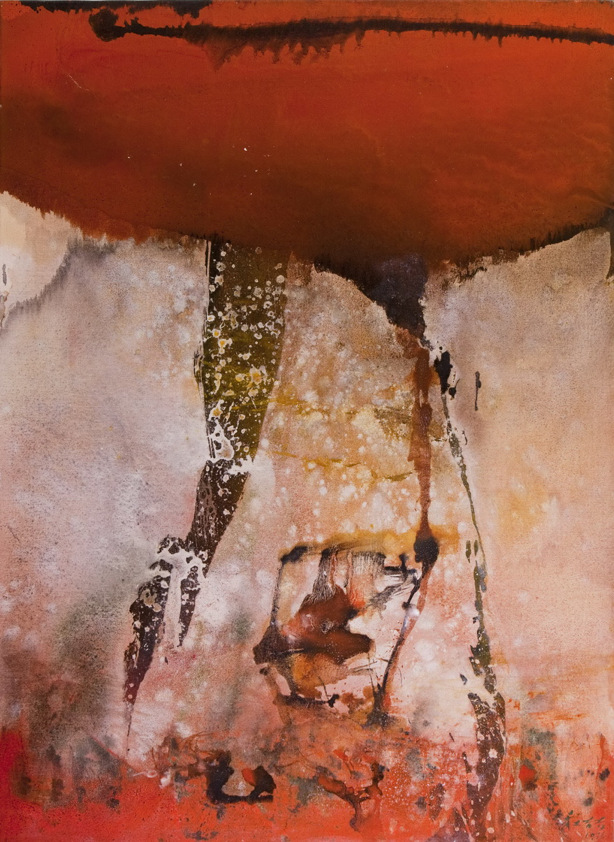 002 Chuang Che  Red Cliff, 1976, TM sur toile, 121,5x89,5