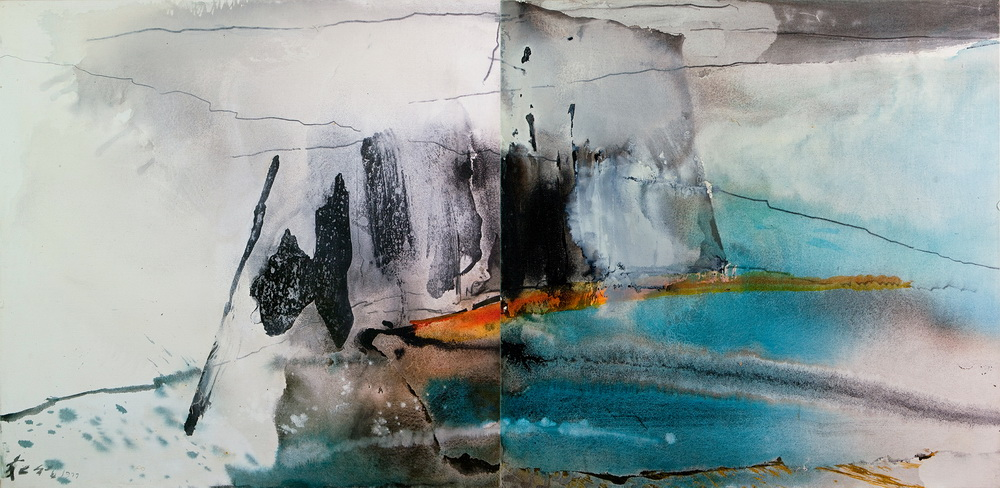 003 Chuang Che  Diptych, 1977, 99,8x126