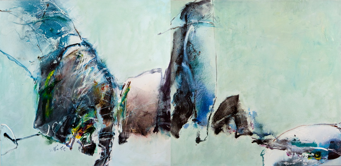 005 Chuang Che  88-58 Diptych, 1988, 98,2x128
