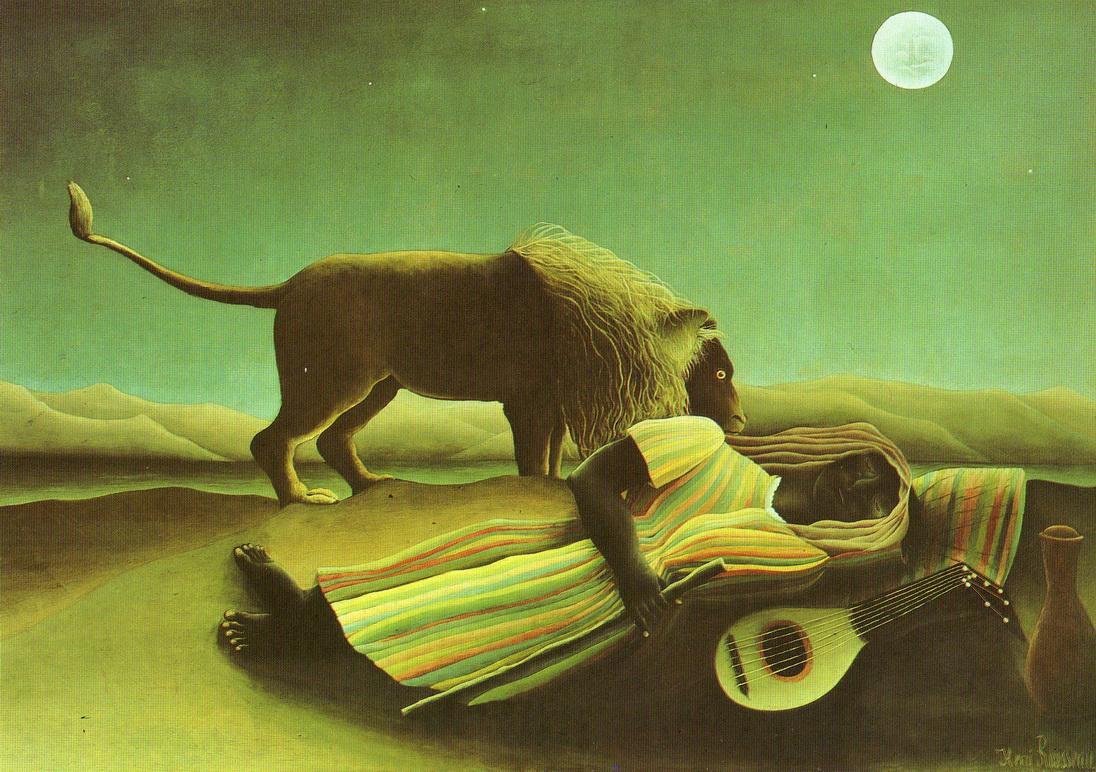 073 Rousseau 1897 La bohemienne endormie 129.5x200.5 Museus of Modern art NY