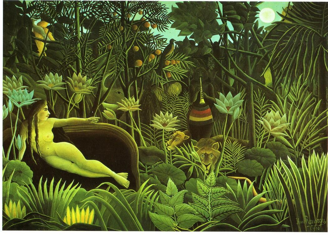 075 Rousseau 1910 Le Reve 204.5X299  Museus of Modern art NY