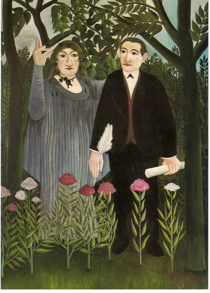 075-1 Rousseau 1909 La muse inspirant le poete 146x97 Kustmuseum Bale