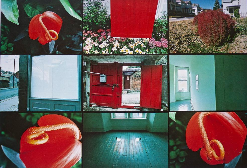 001 紅色染no-5  114x97cm 1988  9幅組構