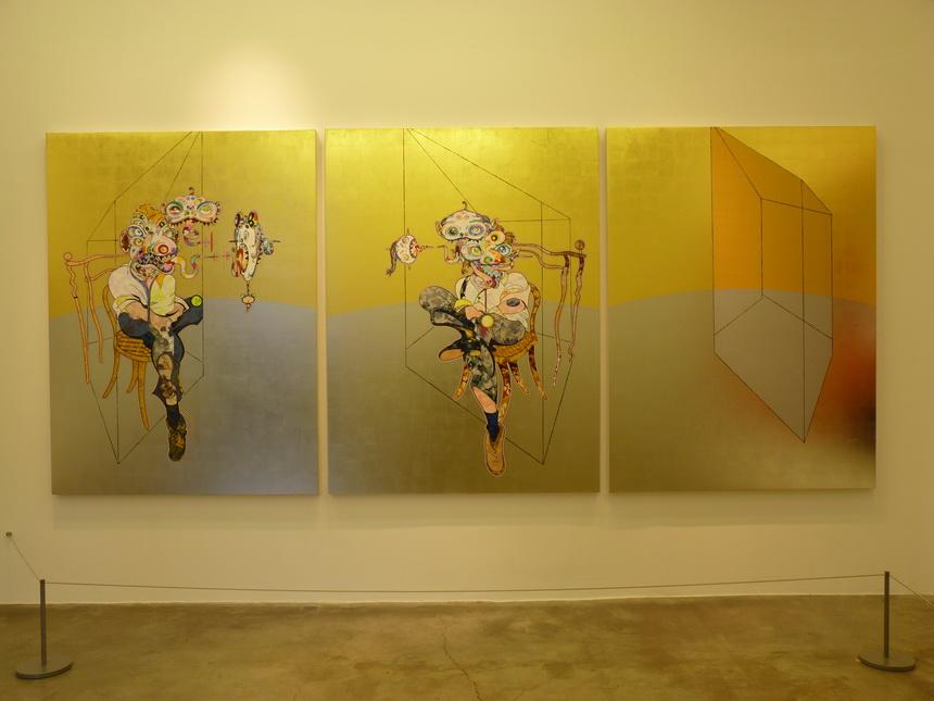 p1560299-takashi-murakemi-b1962-homage-to-francis-bacon-three-studies-of-lucian-freud-3-panneaux-197-8x147-5cm-chaque