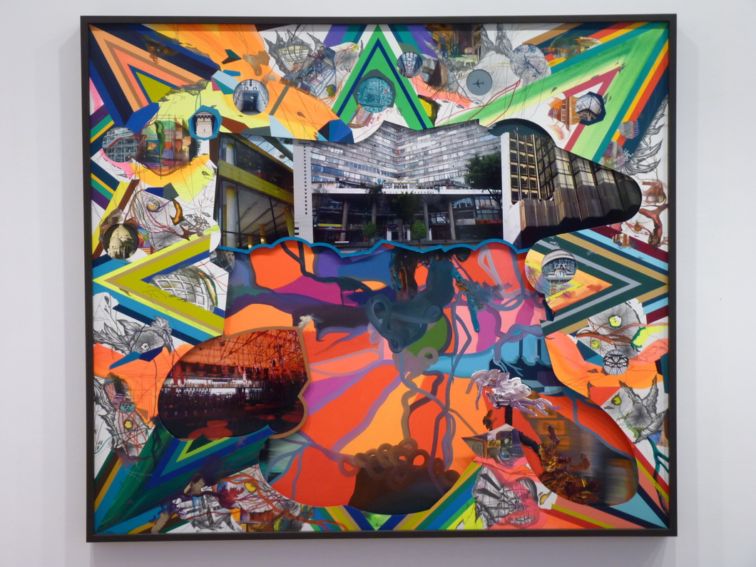 030 Franz Ackermann b 1963 Mexico -non stop from here 150x170cm 2016 mounted paper photos oil acrylic mixed media and framed