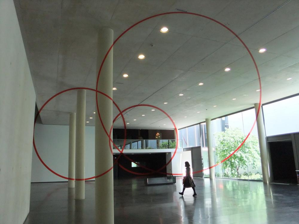 0005 Felice Varini 05 3 Cercles rouge