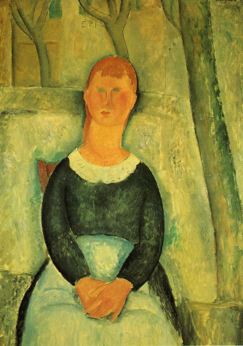 090 Modigliani 1918 La belle droguiste 100x65 Collection particuliere Paris